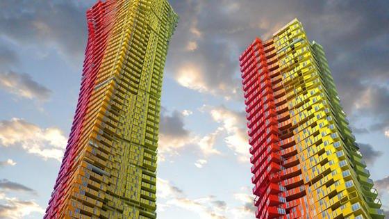 Hochhäuser aus Schiffscontainern: Die Architekten wollen 4500 Container mehrere hundert Meter hoch stapeln.