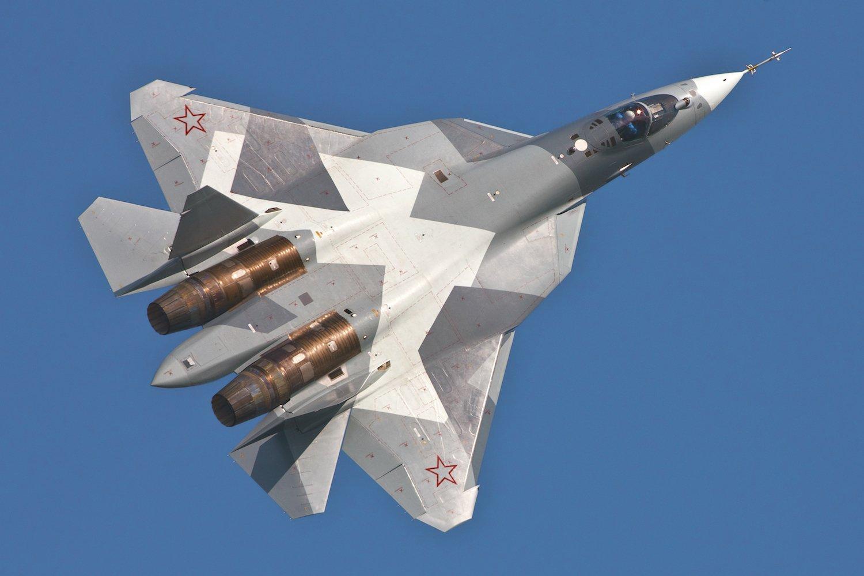Sukhoi T-50: DerTarnkappen-Kampfjet ist einer der Stars der Messe.