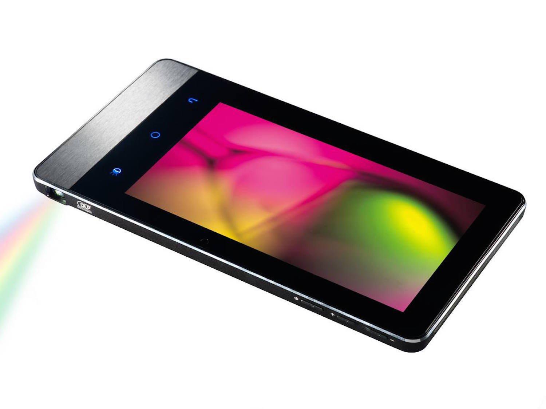 Das Aiptek ProjectorPad P70 misst 219x119x10 mm, wiegt 420 g und kostet 369 €.