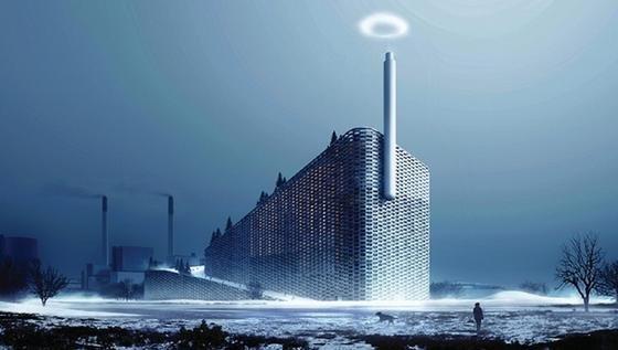 Kopenhagen soll ein Müllheizkraftwerk mit künstlerischem Extra erhalten: Ein spezieller Schornstein soll die Bewohner mit Dampfringen über jede Tonne CO2 informieren, die ausgestoßen wird.