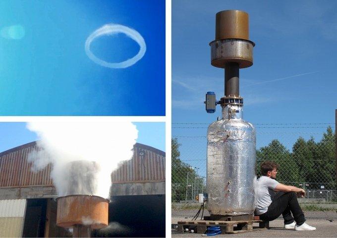 Der erste Prototyp des Dampfring-Generators im April 2014.