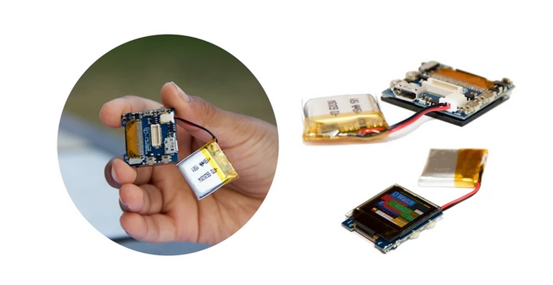 Die O Watch wird als Bausatz zum selbst zusammenbauen geliefert: Dazu gehörenOled-Display, Prozessor und Batterie.