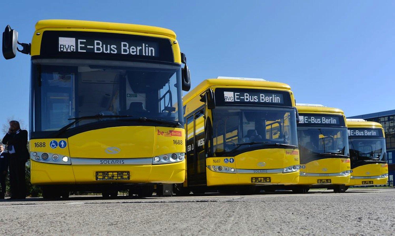 Elektrobusse vom Typ Urbino 12 electric des polnischen Herstellers Solaris: Sie haben einen 218-PS-starken Elektromotor und eine 90-kWh-Batterie.