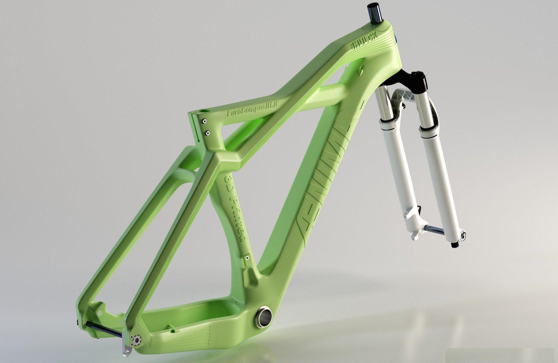 Aenimal Bhulk von Eurocompositi: Der Fahrradrahmen besteht als Polymilchsäure. Er kann auf dem Komposthaufen verrotten.
