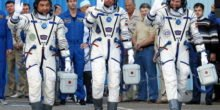 Drei neue Astronauten auf dem Weg zur ISS