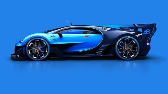 Der Bugatti Gran Tourismo wurde für das gleichnamige Playstation-Spiel von Sony entwickelt, steht aber als Modell auf der IAA und gibt einen Vorgeschmack auf den Bugatti Chiron, der 2016 kommt.