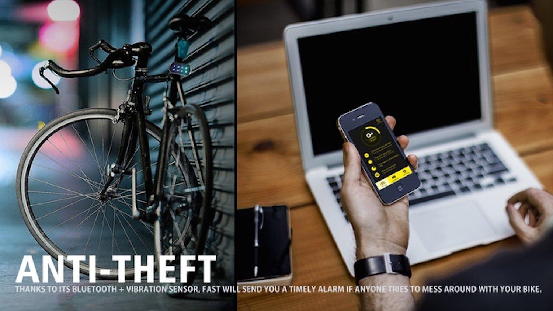 Fast ist gleichzeitig Alarmanlage: Macht sich ein Dieb am Fahrrad zu schaffen, erhält der Besitzer eine Nachricht.