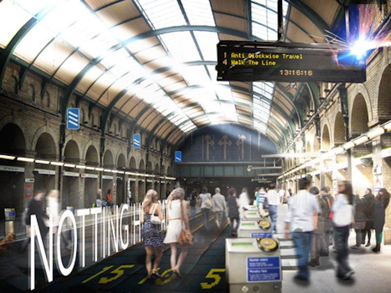 Laufbänder statt Schienen: Dieses Verkehrsmittel könnte eine Alternative zur Londoner Circle Line werden, auf der es regelmäßig zu Verspätungen kommt.