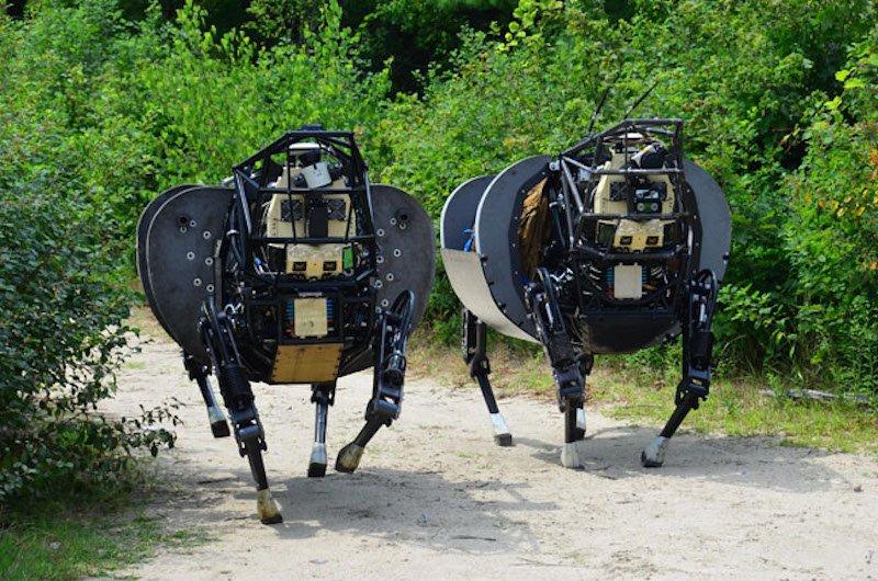 Roboter namens AlphaDog trainierten mit den US Marines auf Hawaii. Sie halten selbstständig das Gleichgewicht.