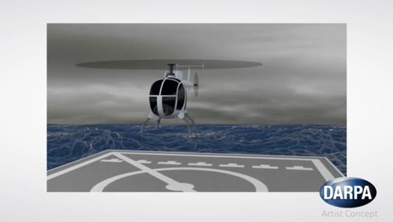 Mit dem MAR-System ist es künftig auch möglich, auf dem schwankenden Deck von Schiffen auf hoher See zu landen.