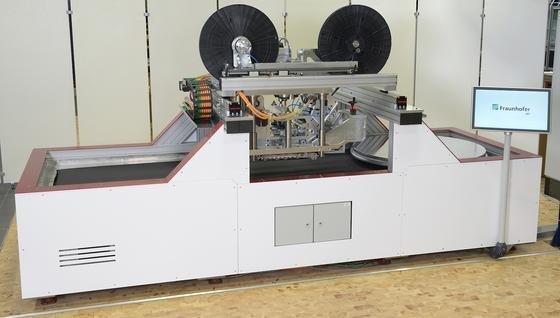 Das System zur automatisierten Herstellung individuell angepasster Organobleche.