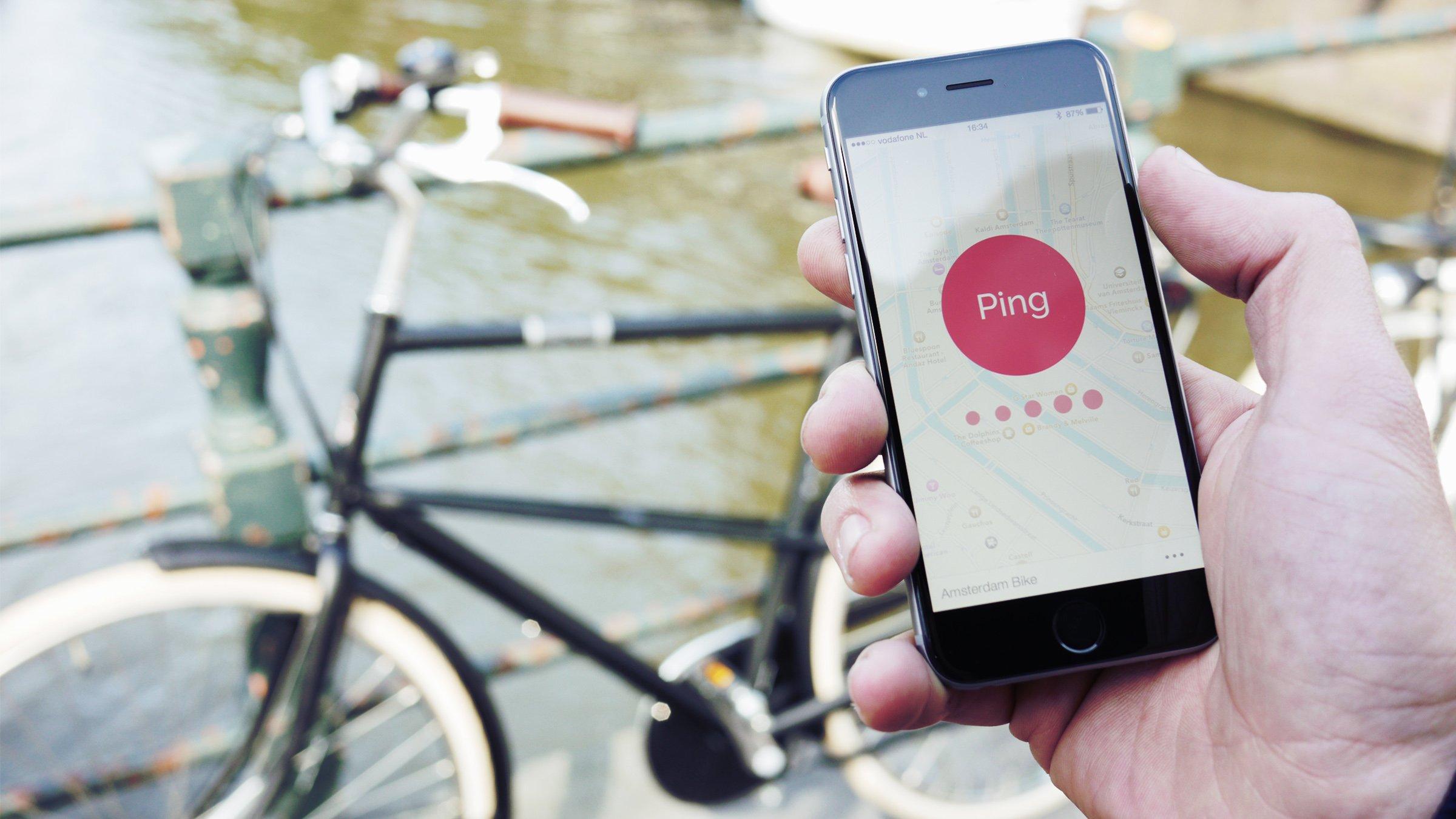 Gefunden: Die Pingbell-App führt den Radfahrer per Karte zum Fahrrad und kann auf Knopfdruck zwischendurch als Hilfe die Fahrradklingel läuten lassen.