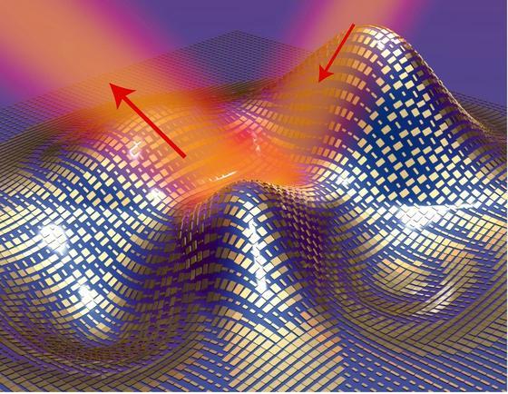 US-Forscher haben aus Gold ein Metamaterial entwickelt, das Licht nicht mehr reflektiert und damit unsichtbar macht. Wenn man damit einen Menschen abdeckt, könnte auch der unsichtbar werden.