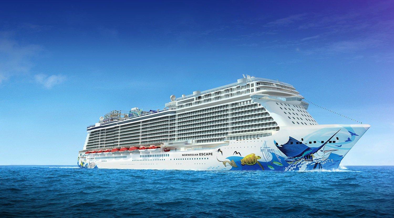 Die Escape der Norwegian Cruise Line: Das Kreuzfahrtschiff ist ab November 2015 in der östlichen Karibik unterwegs.