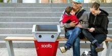 Soofa: Bank mit Solarstrom zum Ausruhen und Aufladen