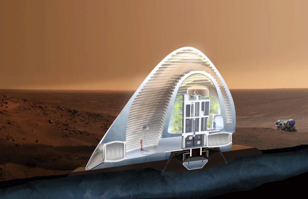 Ein Haus aus Eis gewinnt Nasa-Wettbewerb für beste Marsbehausung