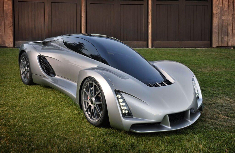 Sportwagen Blade: Teile des Fahrgestells hat ein 3D-Drucker mit Aluminiumpulver hergestellt.