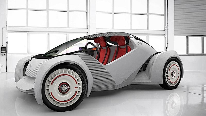 Strati ist das erste funktionierende Auto aus dem 3D-Drucker. Komponenten wie Motor, Batterie und Reifen stammen allerdings aus konventioneller Fertigung.