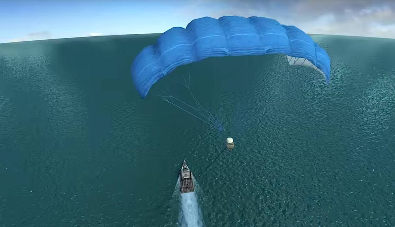 Talon ist quasi der höchste Schiffsmast der Welt: Der Drache ermöglicht unter anderem einen Kamerablick aus über 450 m Höhe.