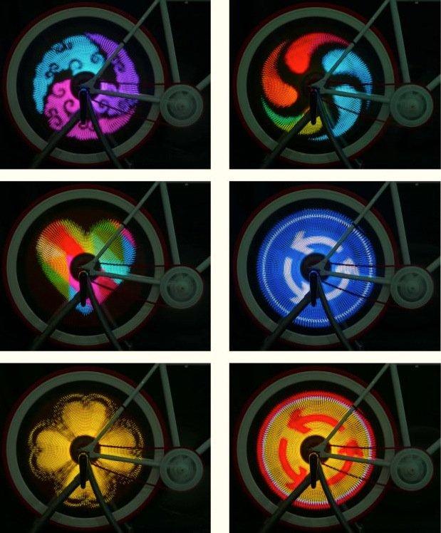 Die Bild-Motive, die Balight auf dem Vorder- oder Hinterrad anzeigt, kommen aus einem Smartphone.
