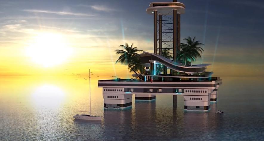 Kokomo ist künstliche Trauminsel und Schiff in einem