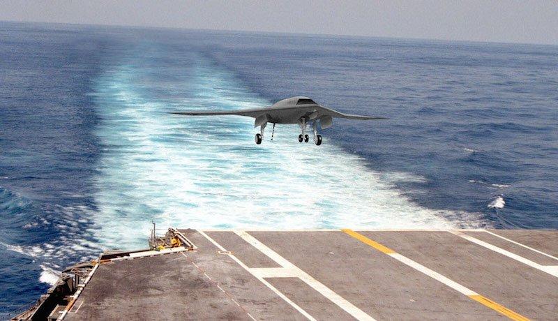 Mit der Drohne X-47B wird vor allem das Landen auf Flugzeugträgern getestet.