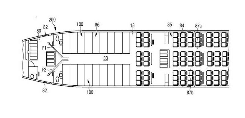 Die Schlafkojen sollen im Heck des Flugzeugs liegen, hinter den Sitzreihen.