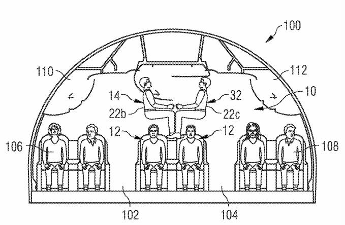 Die Passagiere in einem Airbus sollen künftig auch übereinander sitzen.