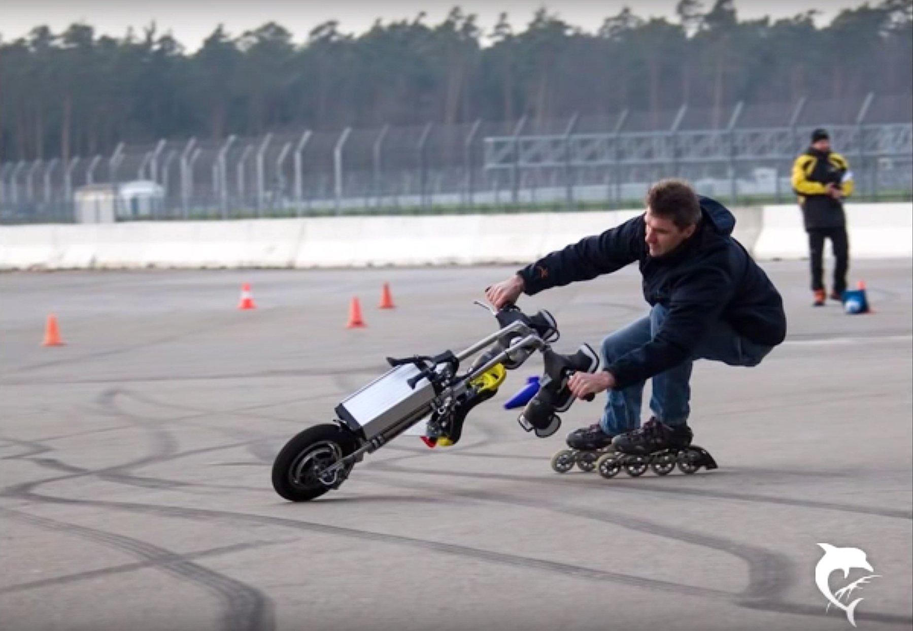 Bis zu 40 km/h schnell kann das FlyRad fahren, wie hier am Hockenheimring.