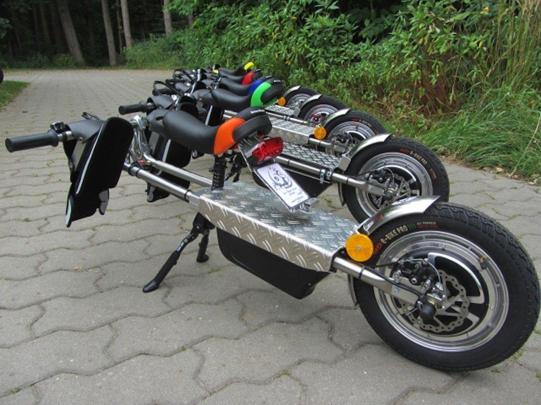 Ein FlyRad kostet 1475 € inklusive Batterie. Die Reichweite des Elektro-Bike beträgt 38 km.