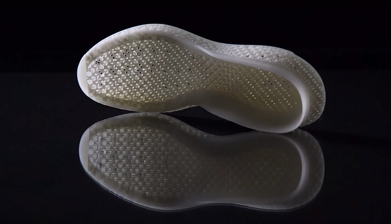 Mittelsohle des Futurecraft 3D: Dank des 3D-Drucks ist eine feine Gitterstruktur möglich, die für optimale Dämpfung sorgt.
