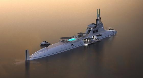 u boot f r superreiche mit dieser yacht k nnen sie abtauchen. Black Bedroom Furniture Sets. Home Design Ideas