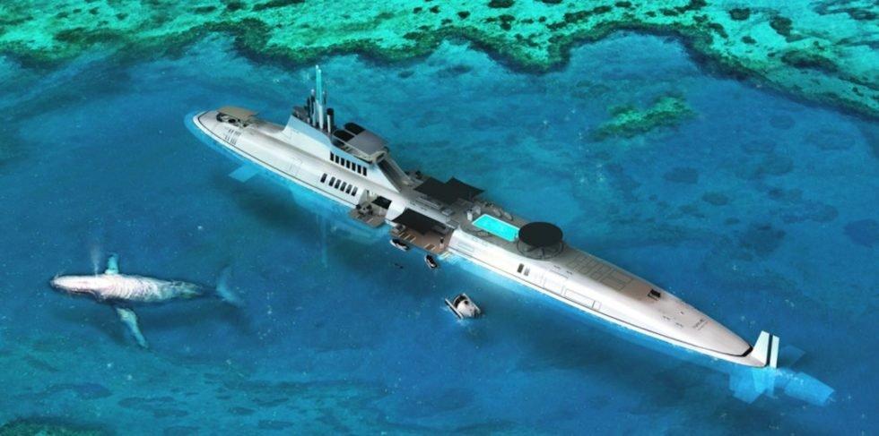 Lust mit der eigenen Yacht in bester James-Bond-Manier auf Tauchgang zu gehen? Dann ist die U-Boot-Yacht Migaloo die Lösung.