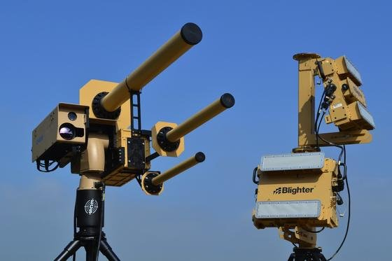 Das Drohnenabwehrsystem AUDS (Anti-UAV-Defense System) nutzt Radiowellen, um die Verbindung zwischen der Drohne und ihrem Piloten zu stören.