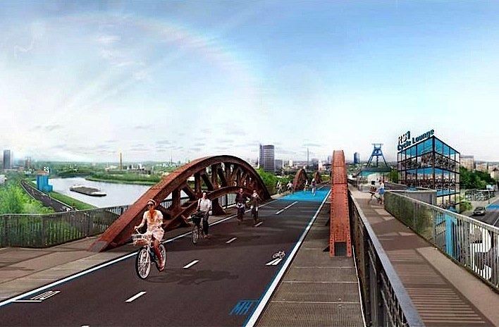 Der RS 1, der Radschnellweg Ruhr, soll über 100 km quer durch das Ruhrgebiet führen. 2020 soll die Strecke eingeweiht werden. Sie wäre der längste Radschnellweg in Europa.
