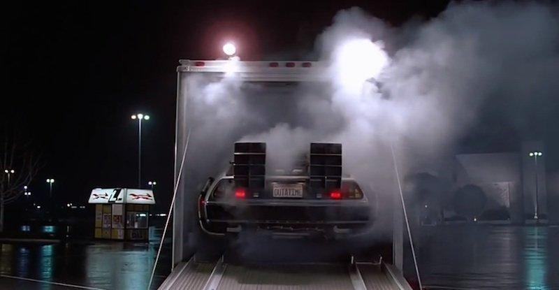 Sportwagen DeLorean.