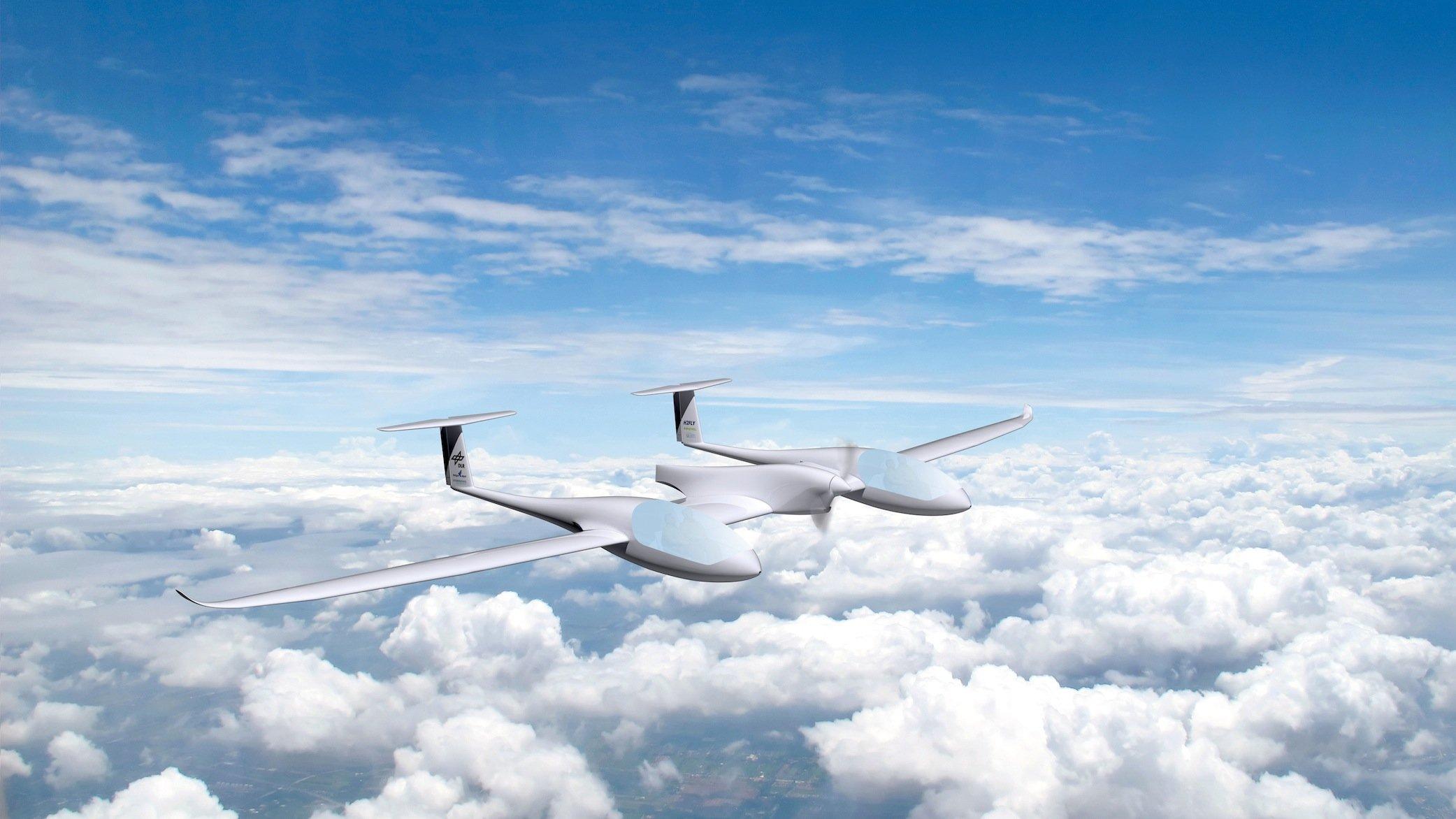 HY4 soll eine Reisegeschwindigkeit von 145 km/h erreichen und mit einer Wasserstoff-Ladung bis zu 1500 km weit fliegen können.