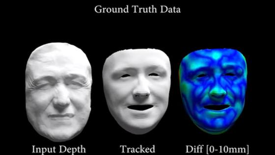 Maskenhaft erscheint nur dieses Bild. Die eigentliche Erfindung – eineSoftware, die die Gesichtsausdrücke eines Menschen vor laufender Kamera ohne Zeitverzögerung auf eine andere Person übertragen kann – wirkt eher gespenstisch beweglich.