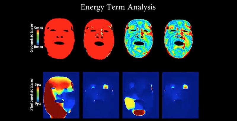 Kameras übertragen die Gesichter zunächst in eine 3D-Computergrafik.