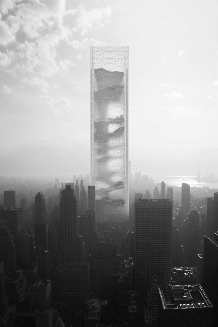 Die aus Glas und Stahl gebaute Konstruktion namens Essence Skyscraper soll sich inmitten des Stadtzentrums erheben. Darin verborgen: vielfältige Natur.