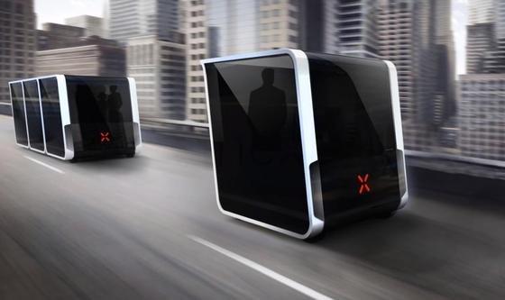 Transportgondeln von Next Future: Bereits 2020 könnten sie auf den Straßen rollen.