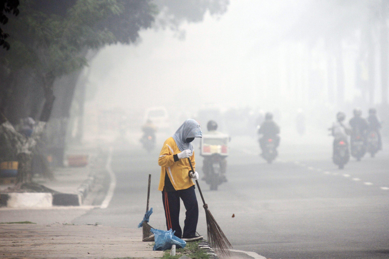 Mehr als 40.000 Menschen sollen bereits infolge des Smogs an Infektionen erkrankt sein.