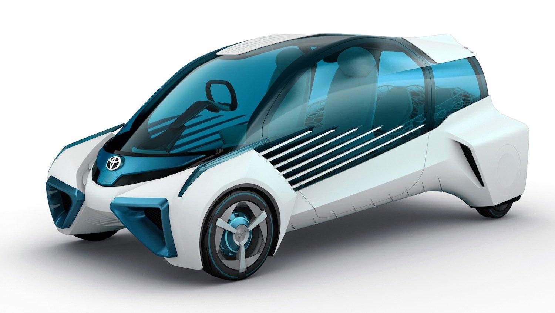 Der Toyota FCV Plus: Das Konzeptfahrzeug fährt mit einer Wasserstoff-Brennstoffzelle, die Strom für vier Radnabenmotoren generiert.