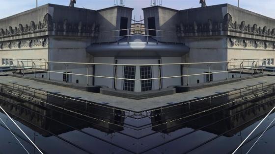 Solarmodule auf dem Dach des Belfaster Parlamentsgebäudes: Sie erreichen einen Jahresertrag von 40.000 kWh, was einer Stromkosteneinsparung von rund 9000 £ entspricht.