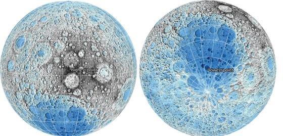 Höhen und Tiefen: Der Mond ist ganz und gar nicht einfach eine runde Sache. Er hat eine ganze Menge an Höhen und Tiefen zu bieten, wie dieUS-Kartografie-Behörde USGS jetzt in veröffentlichten neuen Mondkarten zeigt.