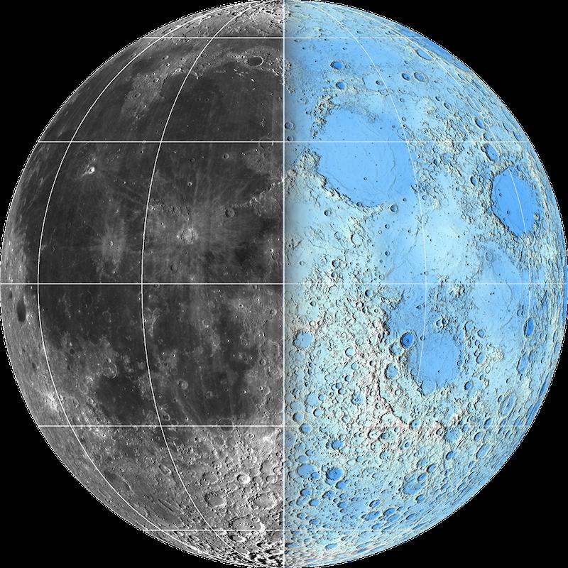 Die neuen zwei Gesichter des Mondes auf einen Blick.