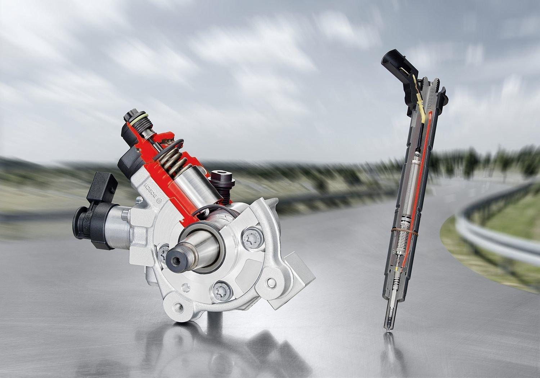 Einspritzpumpen und Injektoren wie das Bosch Common-Rail-System CRS3-25 erzeugen dank gehärtetem Stahl Drücke von 2500 Bar.