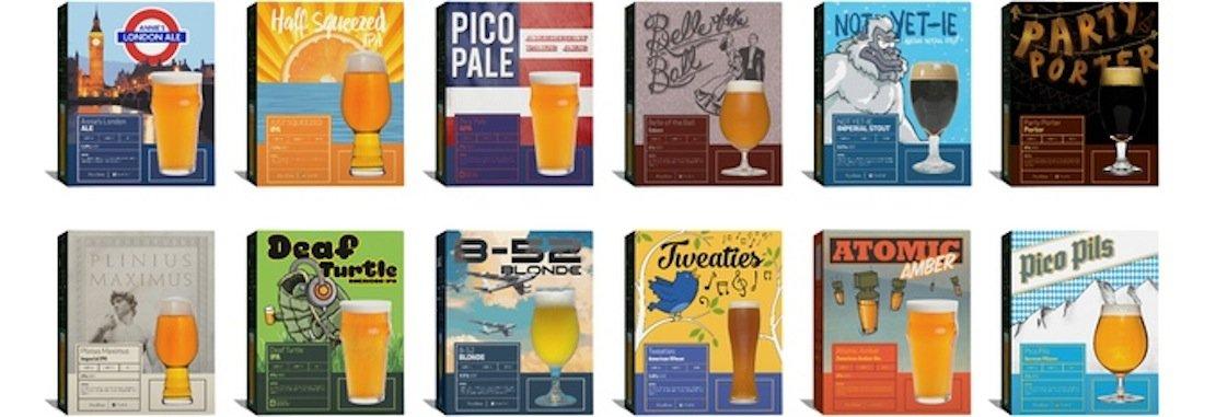 Das läuft einem doch das Wasser im Mund zusammen: Biersorten, die sich in der Pico-Maschine brauen lassen.