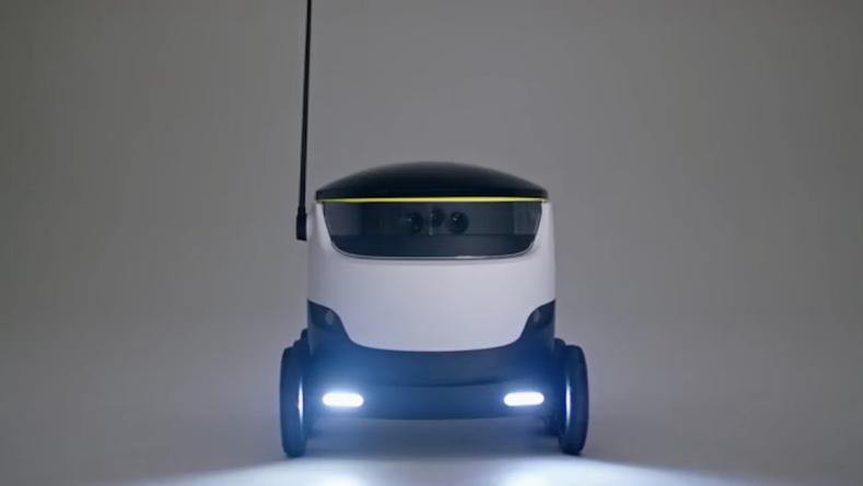 """""""Hallo, ich bin der Neue und bringe ihre bestellte Ware!"""": Die britische Firma Starship Technologies will fahrende Roboter auf die letzte Meile zum Kunden schicken."""