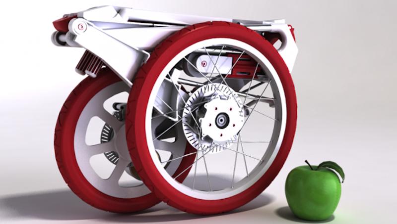Das Bike Intermodal bricht in puncto Kompaktheit alle Rekorde: Es lässt sich gefaltet bequem in einer Aktentasche unterbringen.